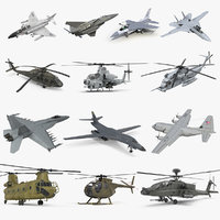Rigged US Military Aircrafts Collection 2