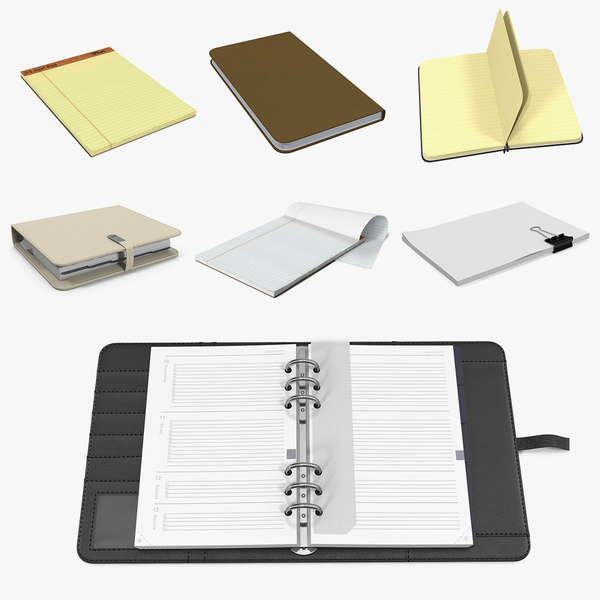 3D writing pads organizers model