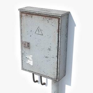 3D model electric box