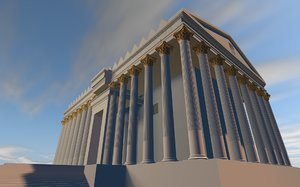 3D temple bel palmyra model