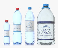 PET Bottles Pack. Include 50cl, two versions of 1.5L and one 6 L