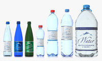 PET and glass Bottles Pack. Include 50cl, 1.5L and one 6 L. Three glass and four plastic bottles.