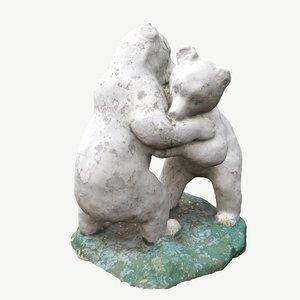 3D scanned bears