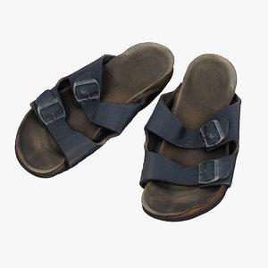 3D shoe sandals fashion model