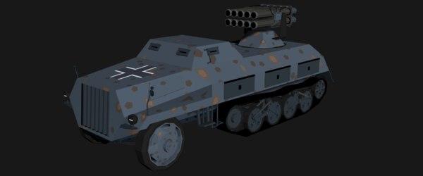 3D isometric 15cm panzerwerfer model