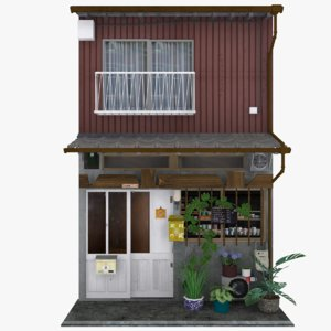 old nagasaki cafe 3D model