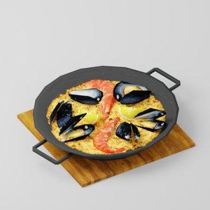 3D food seafood model