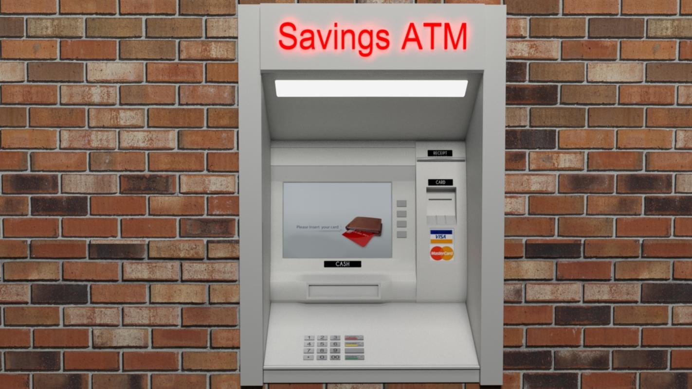 atm wall cash machine model