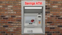 ATM Wall Cash Machine Animated