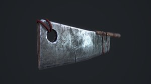 apocalyptic cleaver 3D model
