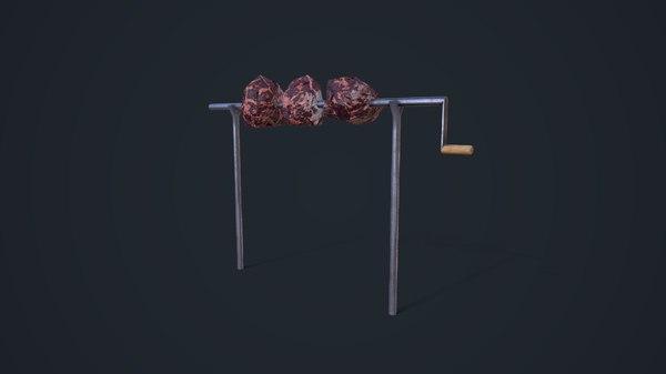 3D rotisserie asset model