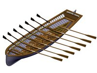boat 14 rowing light model