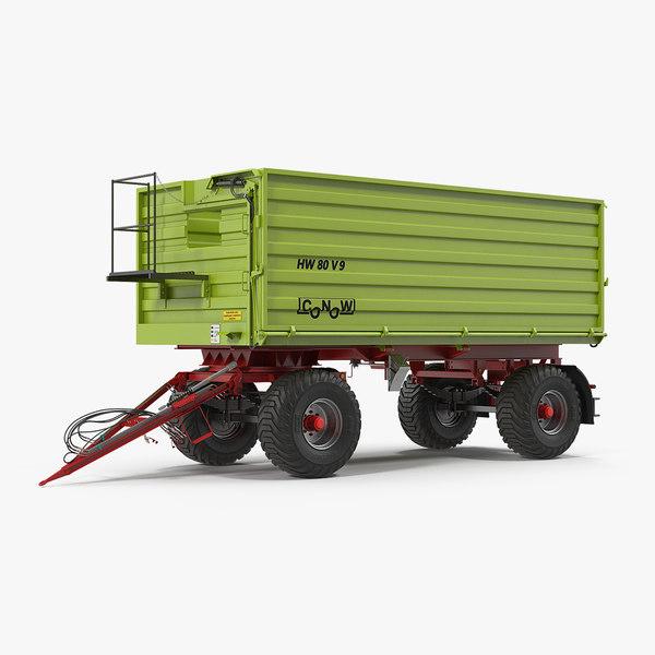 3D conow hw-80 dump trailer