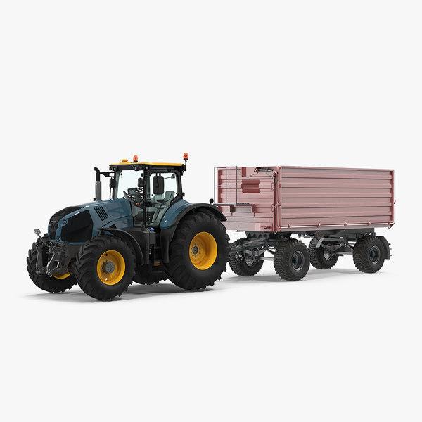 3D tractor dump trailer new