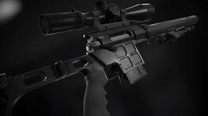 lobaevs sniper weapons dvl-10 3D model