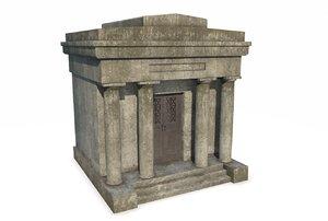 3D mausoleum pbr