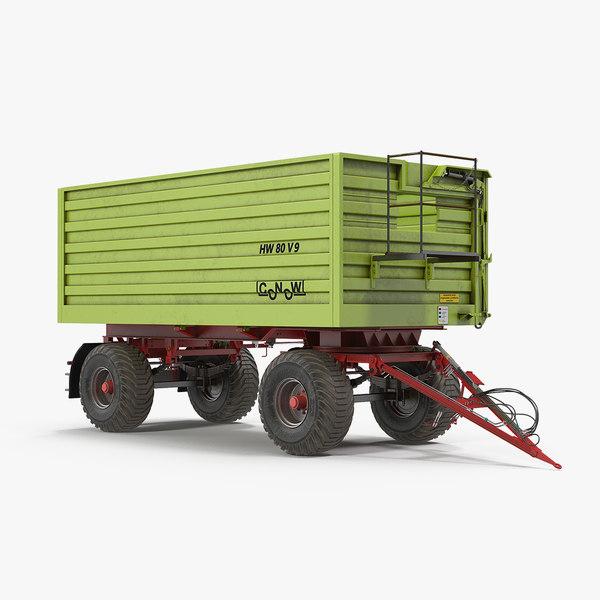 dump trailer conow hw-80 3D model