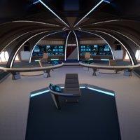 bridge spaceship model