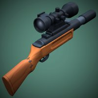 stylized weapon dt-6 sniper rifle 3D