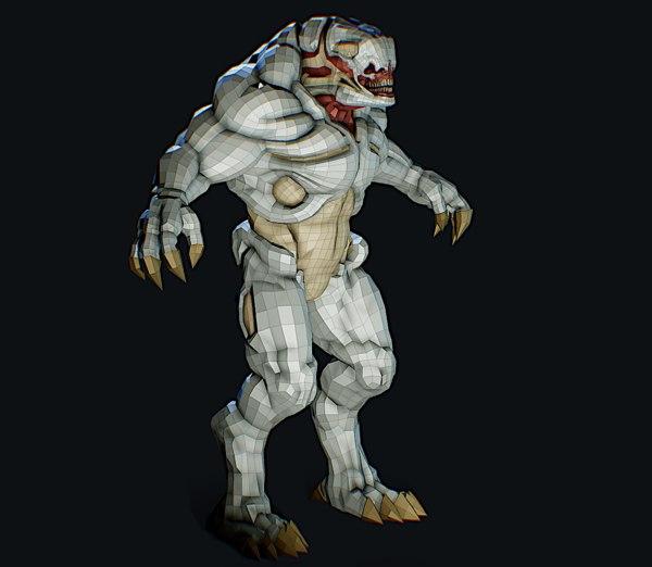 3D hellknight doom doom3 model