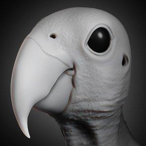 parrot head animal 2019 3D model