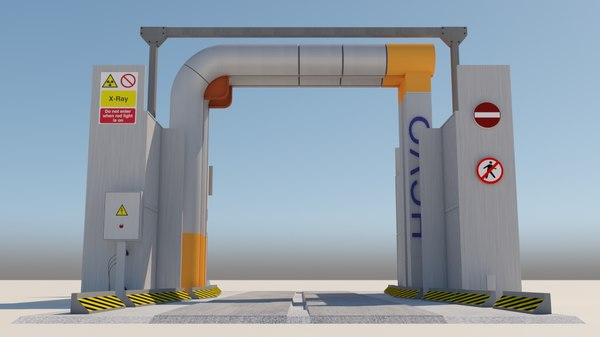 3D truck scanner ports model