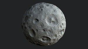 3D model cartoon moon