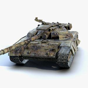 3D low-poly tank t-64 bm model