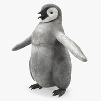 baby emperor penguin t-pose 3D model