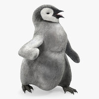 penguin baby walking pose 3D model