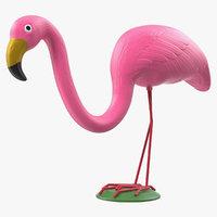 plastic pink flamingo lawn model