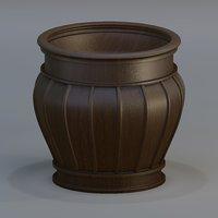3D urn marble wood