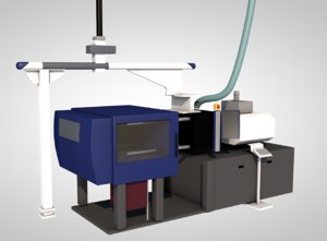 3D micro molding machine