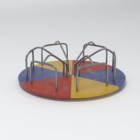playground carousel 3D model