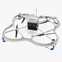 Amazon Prime Air Delivery Drone with Package
