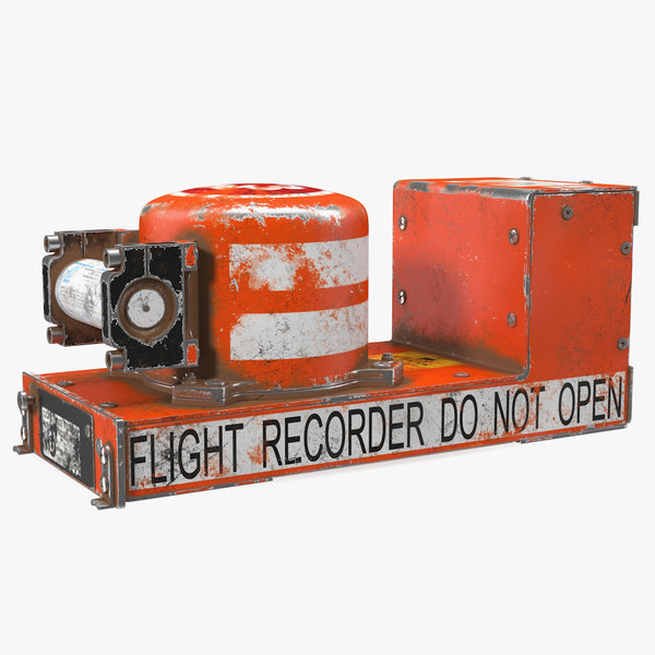 3D model black box flight recorder