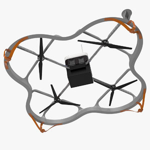 3D delivery cargo drone model