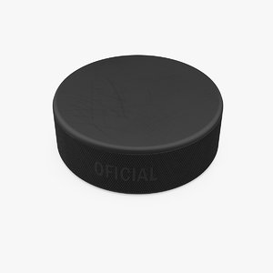classic ice hockey puck 3D
