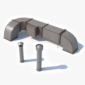 rooftop air ventilation duct model
