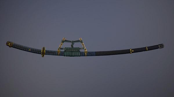 3D katana japan sword