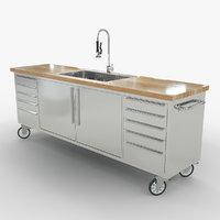industrial kitchen sink 3D model