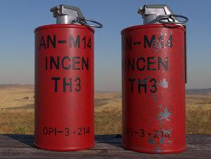 an-m14 th3 grenade 3D model