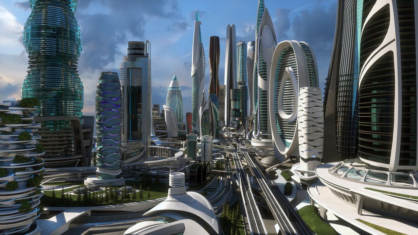 scene city blocks 1-4 3D model