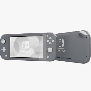 realistic nintendo switch lite 3D model
