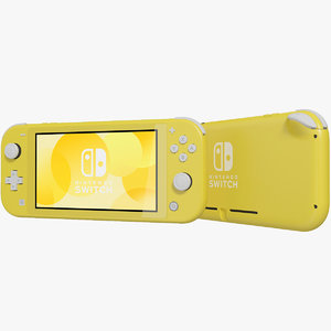 realistic nintendo switch lite 3D model
