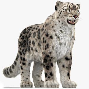3D snow leopard 3 furry