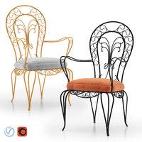 3D wrought iron armchair