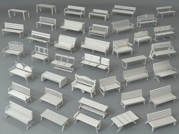 3D furniture chair bench