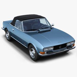 3D peugeot 504 cabriolet model
