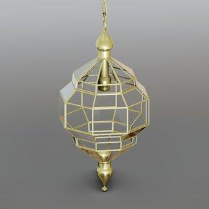 lamp glass designed 3D model
